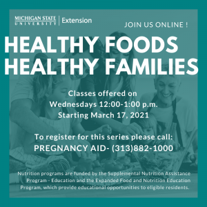 Healthy Foods, Healthy Families for Pregnant Women @ Online with Zoom!